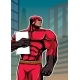 Superhero Holding Book in City Vertical - GraphicRiver Item for Sale