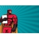 Superhero Holding Book Background - GraphicRiver Item for Sale