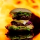 Delicious Burger on the Black Mirror Surface - VideoHive Item for Sale