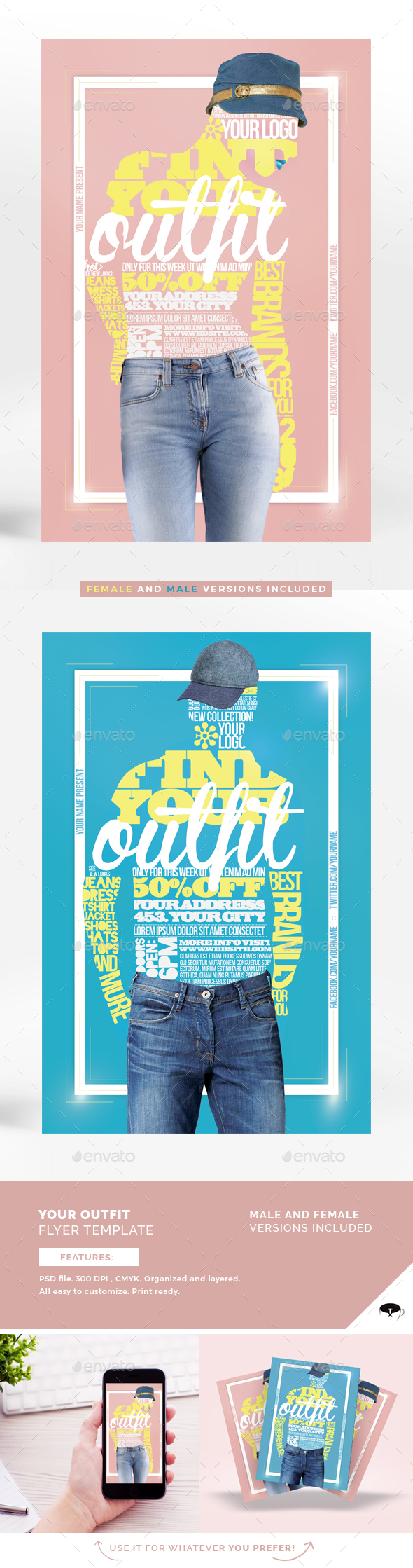 Your Outfit Flyer Template - Flyers Print Templates