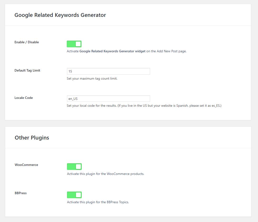 Google Related Keywords Generator - Wordpress SEO Keyword Planner & Tool