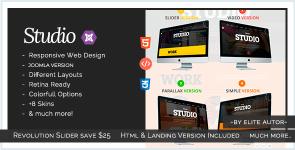 Image of Studio - Multipurpose Technology Joomla Template