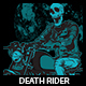 Death Rider T-shirt Design - GraphicRiver Item for Sale