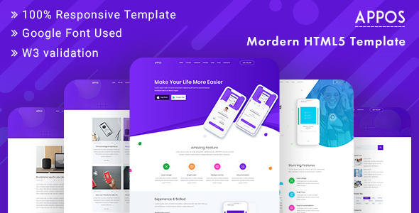 APPOS - App Landing Page Template Bootstrap