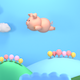 Cartoon Flying Pig - VideoHive Item for Sale