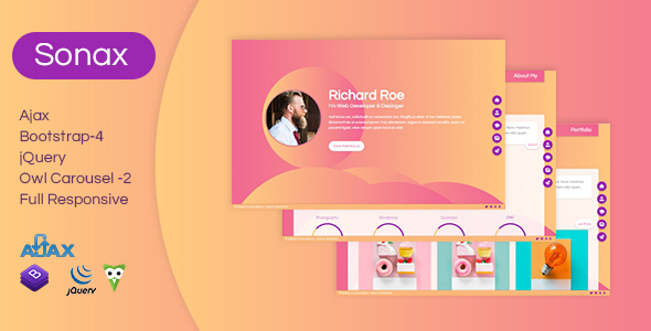 Image of Sonax - Personal Portfolio HTML Template