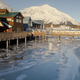 Local Boardwalk over Resurrection Bay in Seward Alaska USA - PhotoDune Item for Sale