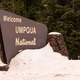 The Snow Covered Sign Says Welcome to Umpqua Nationa Forest - PhotoDune Item for Sale