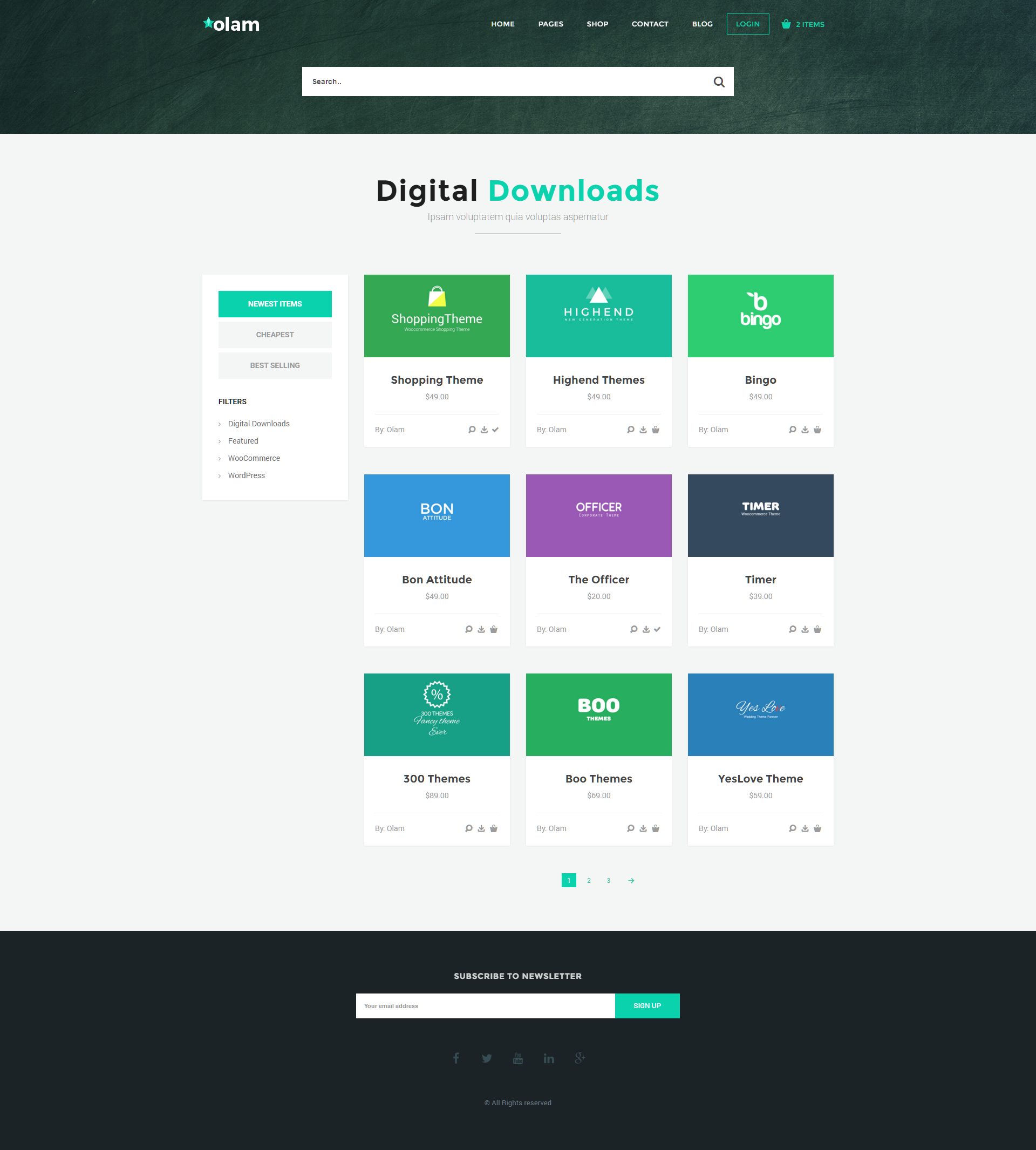 olam wordpress easy digital downloads theme digital marketplace