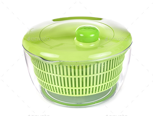 salad dryer in studio - Stock Photo - Images