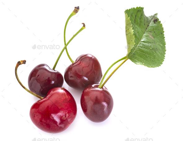 cherries in studio - Stock Photo - Images