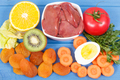 Chicken liver with fruits and vegetables as source vitamin A, minerals and fiber