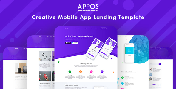 APPOS - Creative App PSD Landing Template - PSD Templates