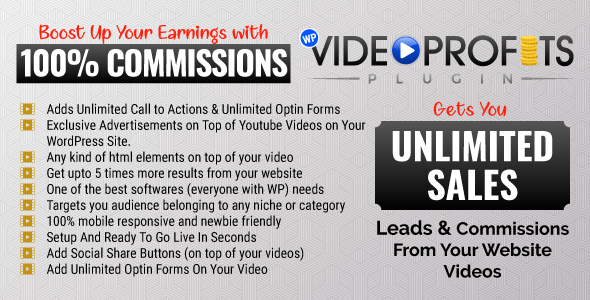 Wordpress Video Profits Affiliate Marketing Plugin - CodeCanyon Item for Sale