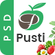 Pusti - Nutrition & Natural Diet Consultancy Center PSD Template