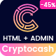 Cryptocash - ICO & Cryptocurrency Landing Page HTML + Admin Dashboard Template - ThemeForest Item for Sale