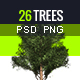All Purpose transparent Trees - png and psd