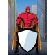 Superhero Holding Shield on Street - GraphicRiver Item for Sale