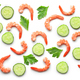 pattern of prawns and cucumber - PhotoDune Item for Sale