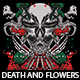 Death And Flowers T-shirt Design - GraphicRiver Item for Sale