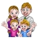 Cartoon Parents and Children - GraphicRiver Item for Sale