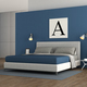 Blue modern master bedroom - PhotoDune Item for Sale