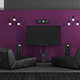 Black and purple home cinema - PhotoDune Item for Sale