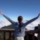 Travel Concept. Woman Raising Hands on Fansipan Mountain in Sapa, Vietnam - VideoHive Item for Sale