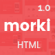 Morki - Premium App Landing Template - ThemeForest Item for Sale