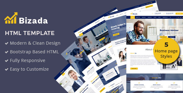 Bizada – Business Consulting HTML Template - Business Corporate