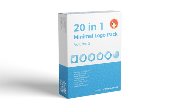 20 in 1 Minimal Logo Pack (vol.2) - Project for After Effects (Videohive)