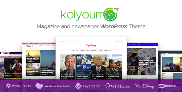 Kolyoum — Newspaper WordPress Theme - News / Editorial Blog / Magazine