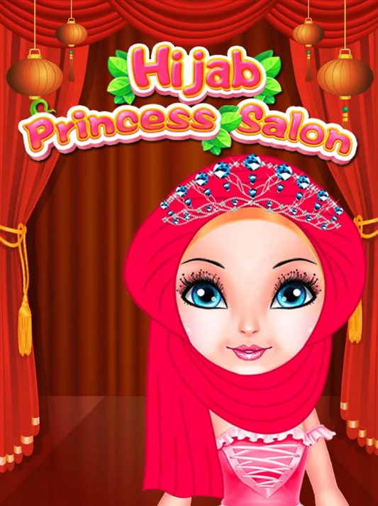 Hijab Princess Salon + Spa + Makeover + DressUp Game For Kids + GDPR + Android
