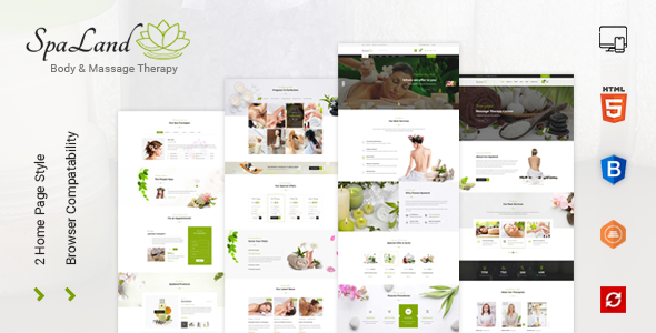 Spaland - Beauty Salon and Spa HTML Template