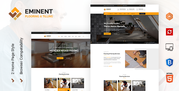 Eminent - Flooring,Tiling and Paving Services HTML Template - Business Corporate