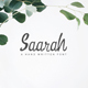 Saarah Fresh Handmade Font - GraphicRiver Item for Sale