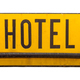 Isolated Rustic Metal Hotel Sign - PhotoDune Item for Sale