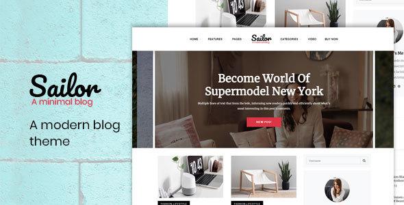 Sailor - A Modern HTML Blog Theme - Technology Site Templates