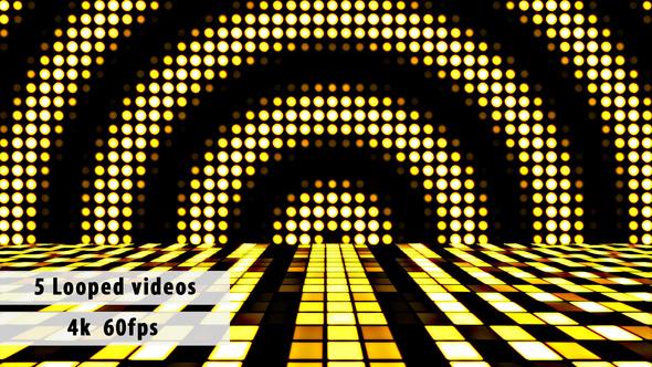 Disco Dance Floor Looped Backgrounds