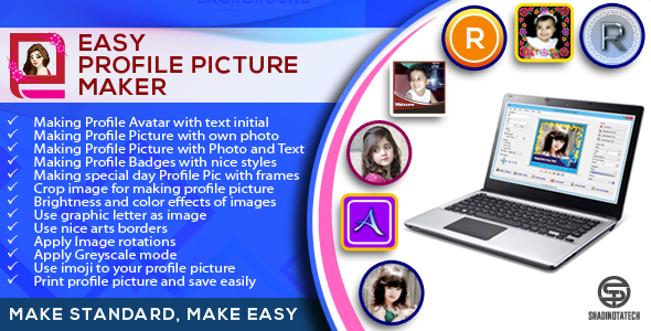 Easy Profile Picture Maker - Make Standard, Make Easy - CodeCanyon Item for Sale