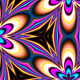 Neon Kaleidoscope Background Looped Pack - 16