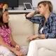 Happy Mother Talking To Her Teenage Daughter