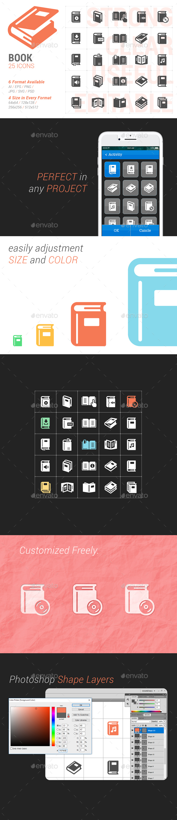 Book Filled Icon - Icons