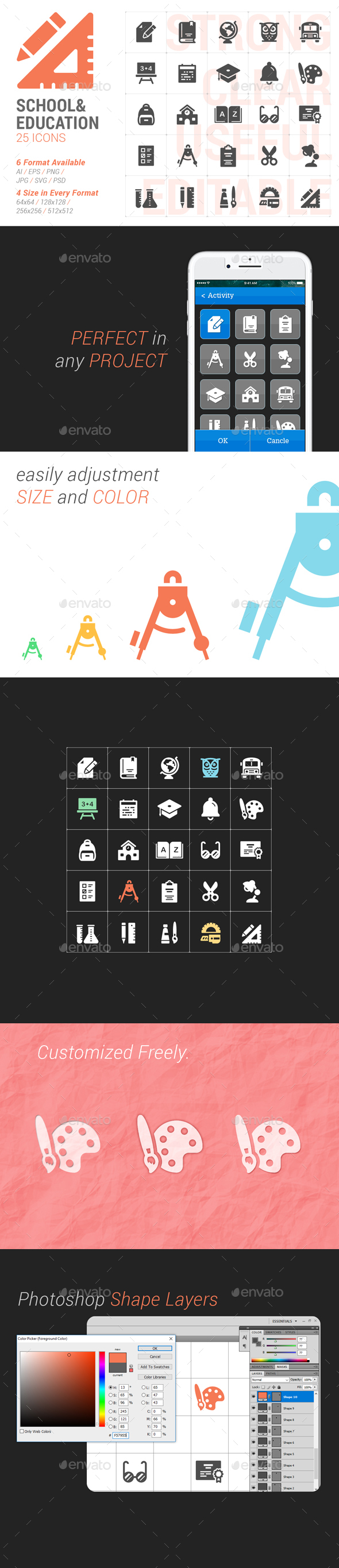 School&Education Filled Icon - Icons