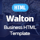 Walton Business & Corporate HTML Template - ThemeForest Item for Sale