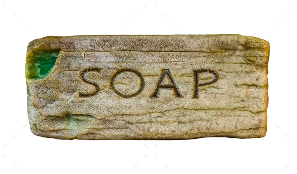Isolated Vintage Soap - Stock Photo - Images