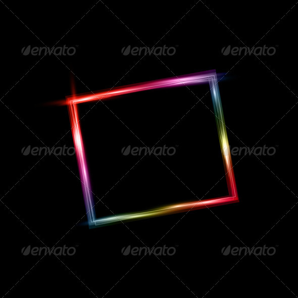 Neon Frame - Backgrounds Decorative