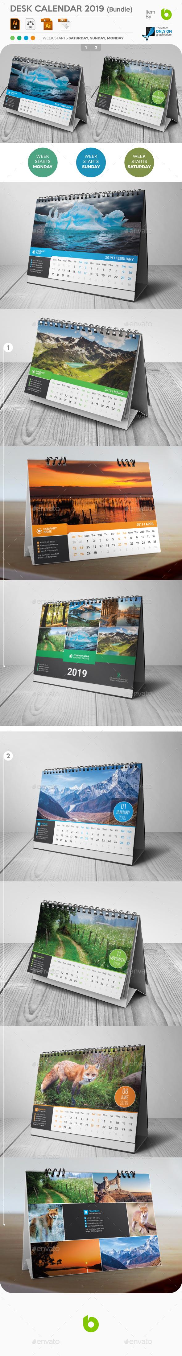 Desk Calendar 2019 Bundle - Calendars Stationery