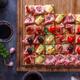 Tasty savory tomato Italian appetizers, or bruschetta - PhotoDune Item for Sale