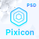 Pixicon - ICO, Blockchain & Cryptocurrency Landing Page PSD Template - ThemeForest Item for Sale